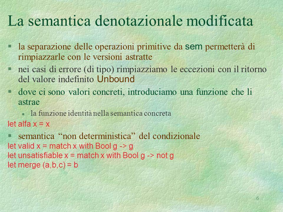 La semantica denotazionale modificata
