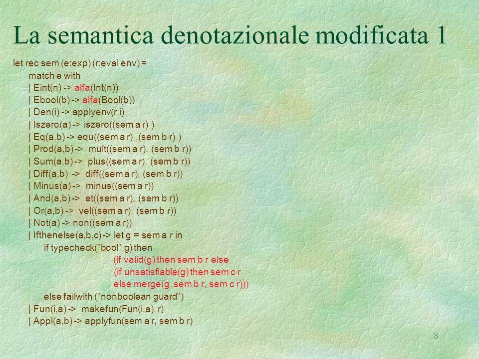 La semantica denotazionale modificata 1