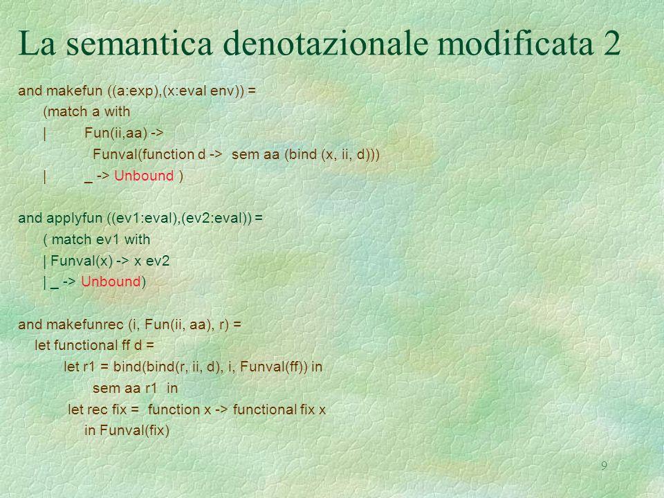 La semantica denotazionale modificata 2