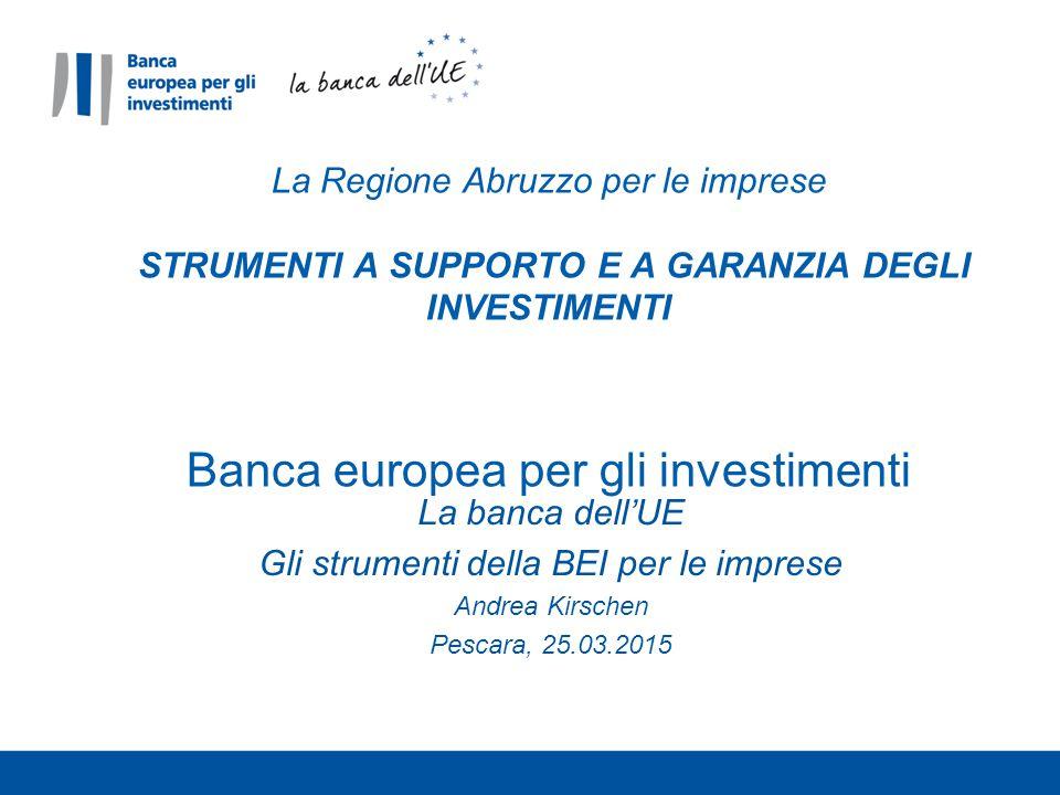 Gli strumenti della BEI per le imprese