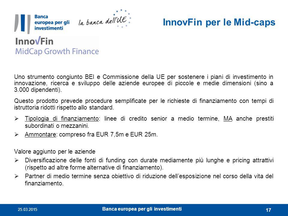 InnovFin per le Mid-caps