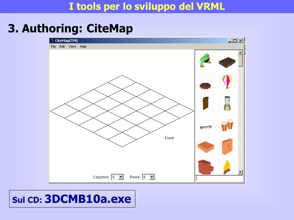 I tools per lo sviluppo del VRML
