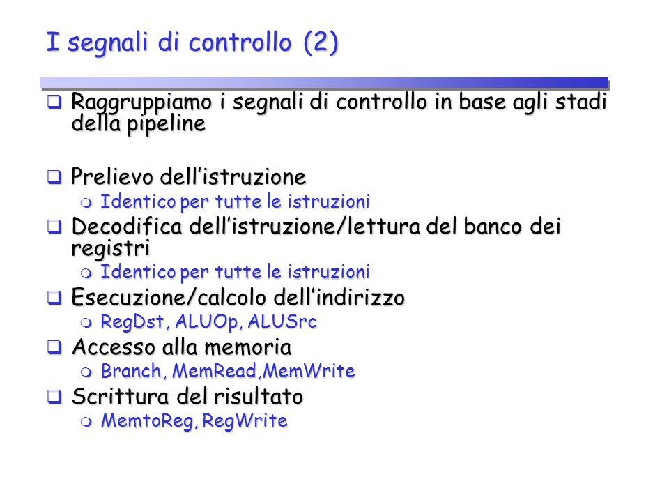 I segnali di controllo (2)