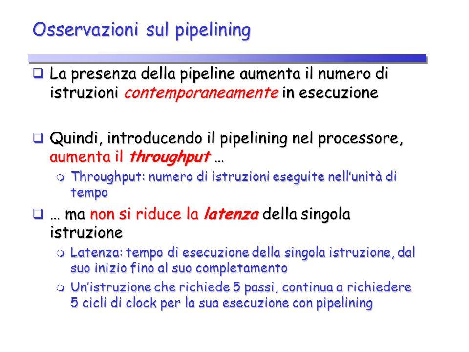 Osservazioni sul pipelining