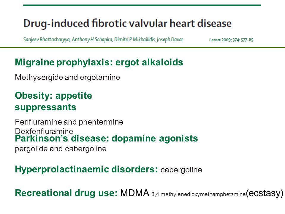 Migraine prophylaxis: ergot alkaloids