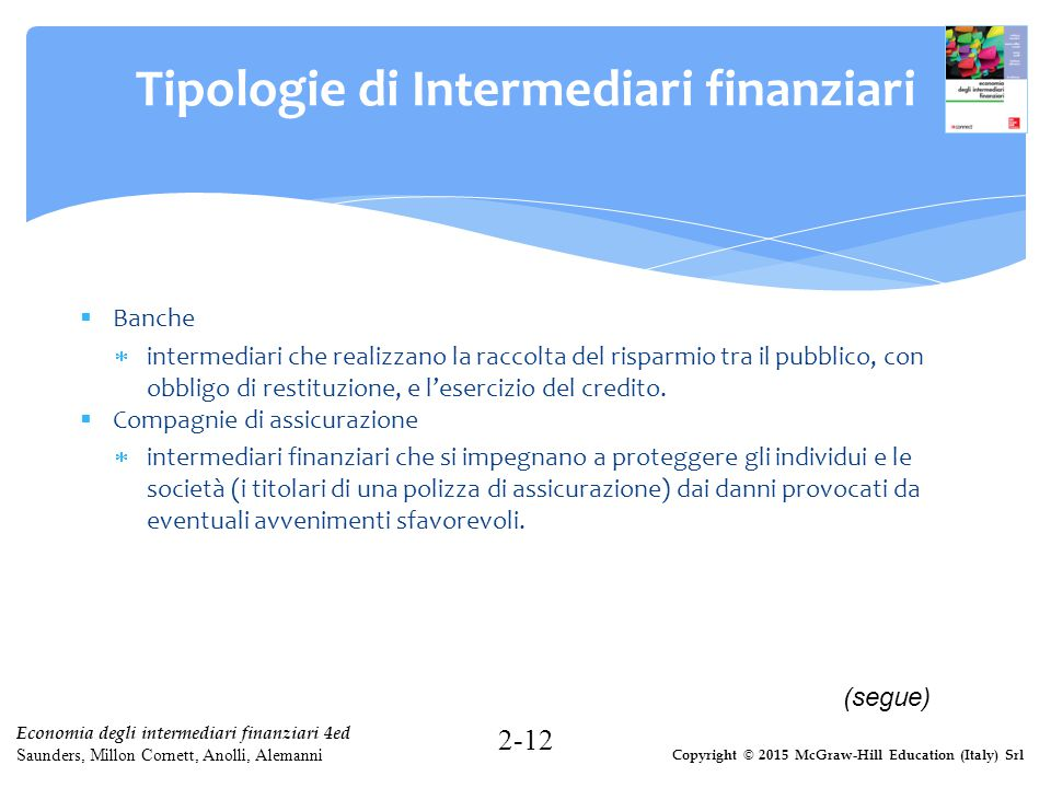 Tipologie di Intermediari finanziari