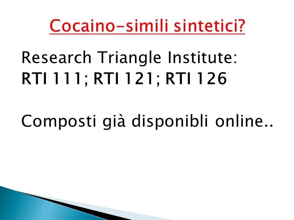 Cocaino-simili sintetici
