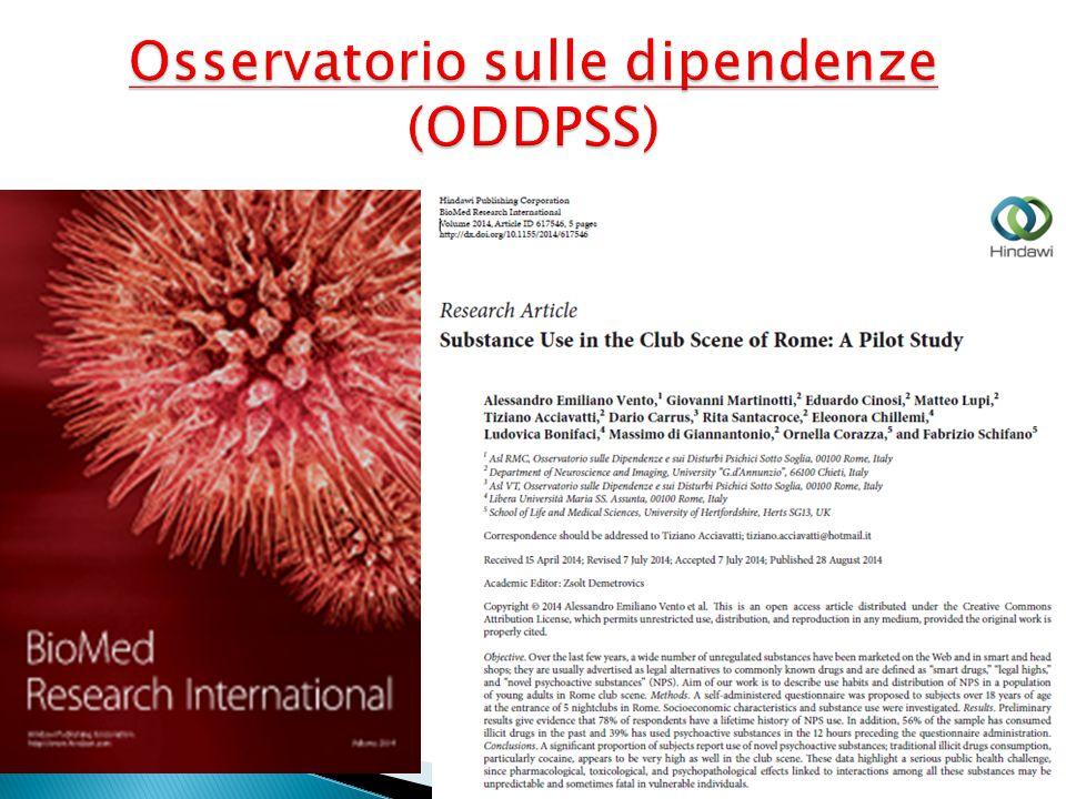 Osservatorio sulle dipendenze (ODDPSS)