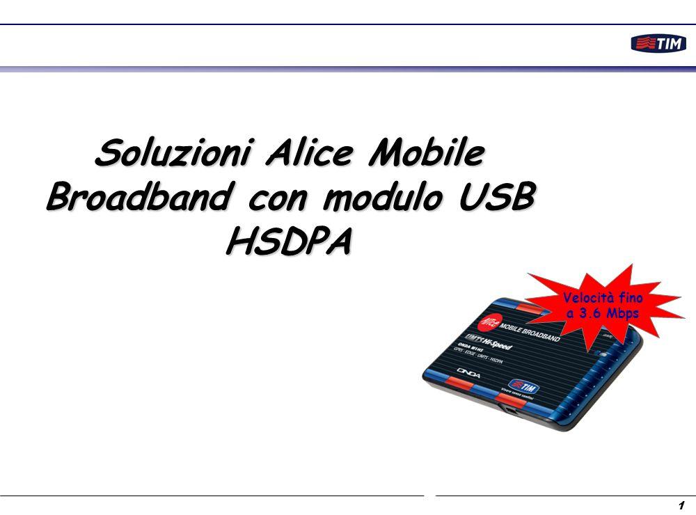 Soluzioni Alice Mobile Broadband con modulo USB HSDPA