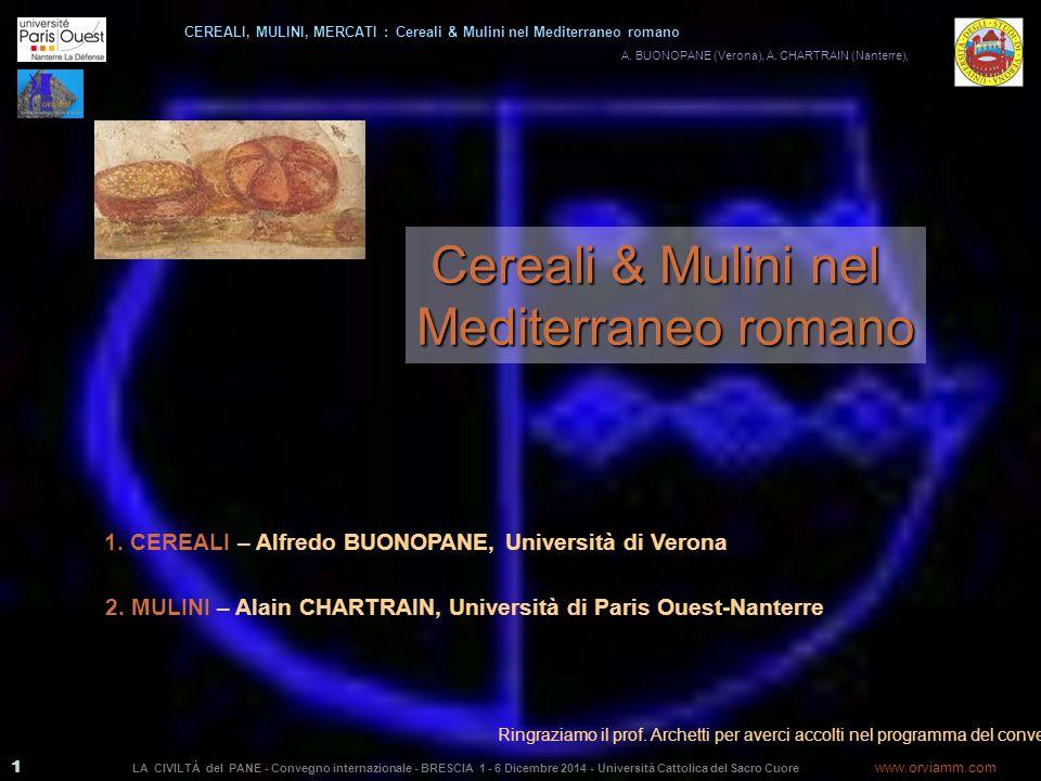 Cereali & Mulini nel Mediterraneo romano