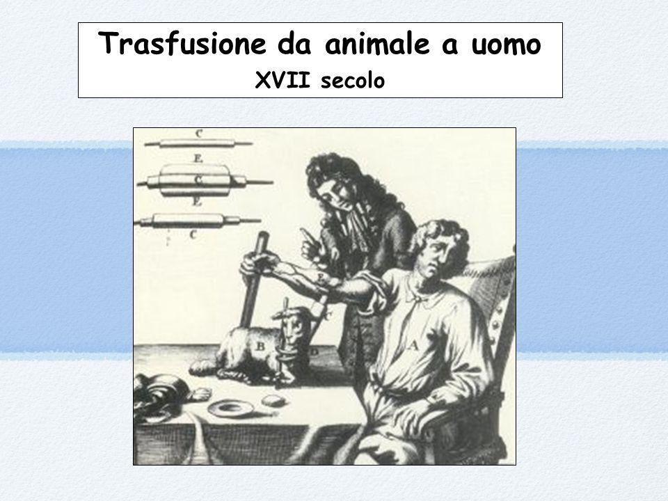 Trasfusione da animale a uomo