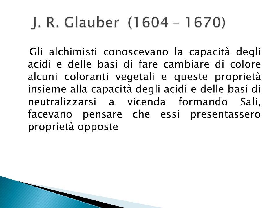 J. R. Glauber (1604 – 1670)