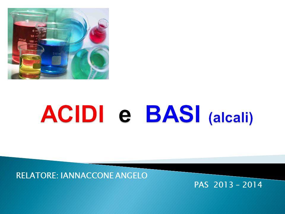 RELATORE: IANNACCONE ANGELO PAS 2013 – 2014