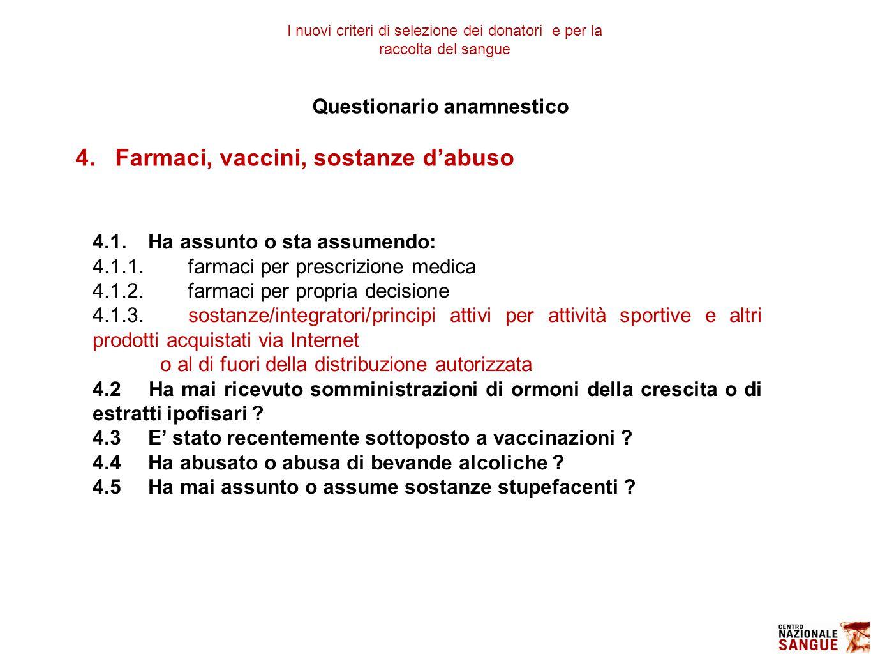 Questionario anamnestico