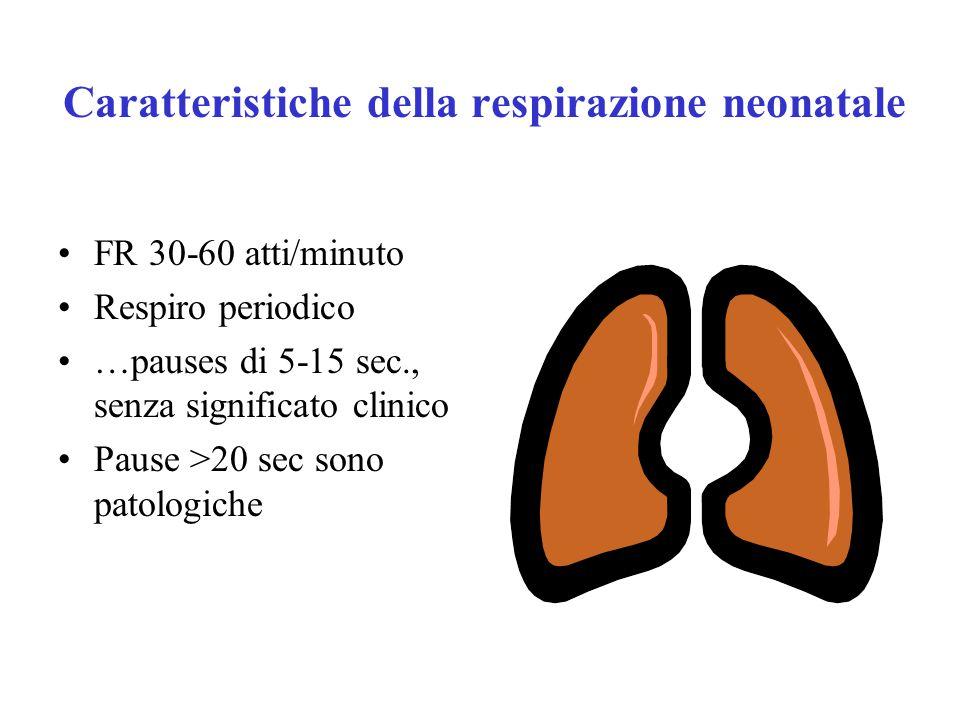 Caratteristiche della respirazione neonatale