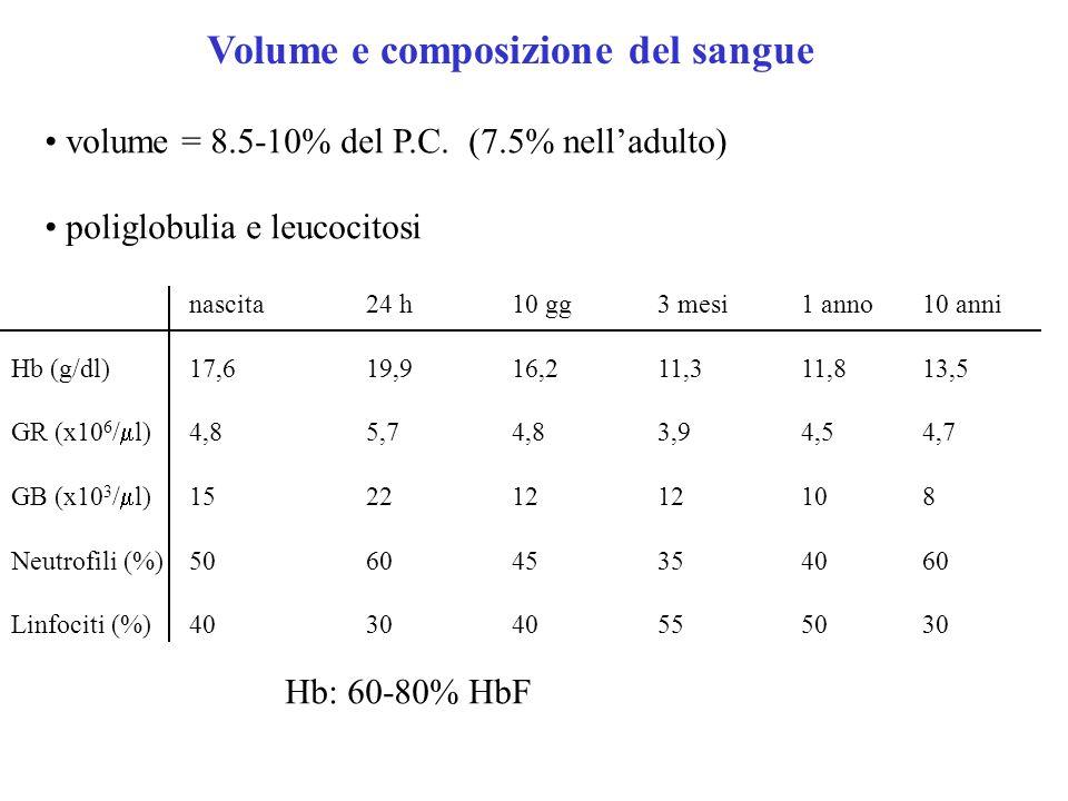 Volume e composizione del sangue