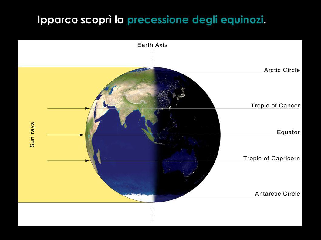 Ipparco scoprì la precessione degli equinozi.