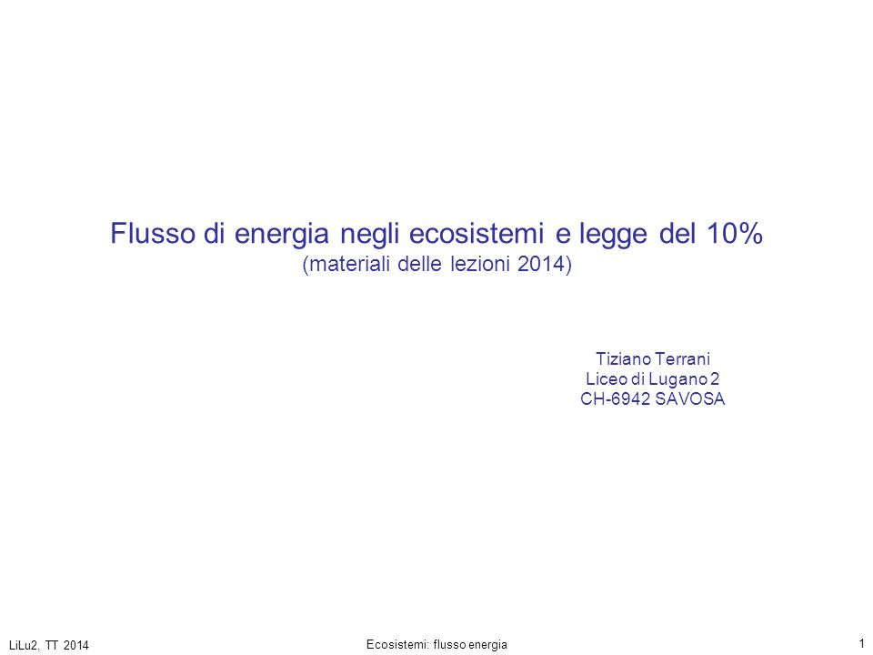 Tiziano Terrani Liceo di Lugano 2 CH-6942 SAVOSA
