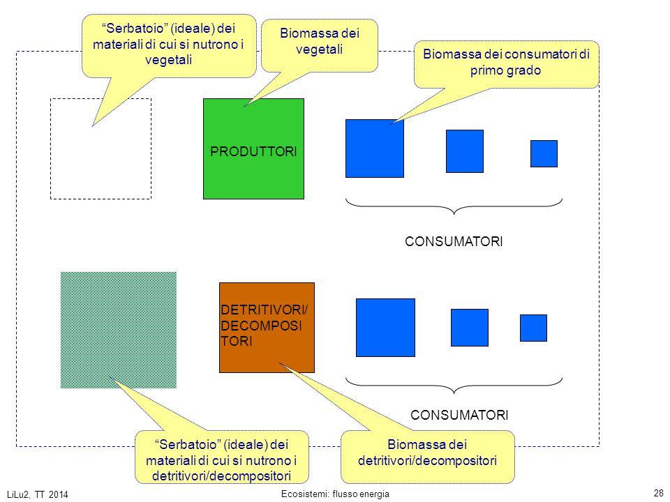 Serbatoio (ideale) dei materiali di cui si nutrono i vegetali