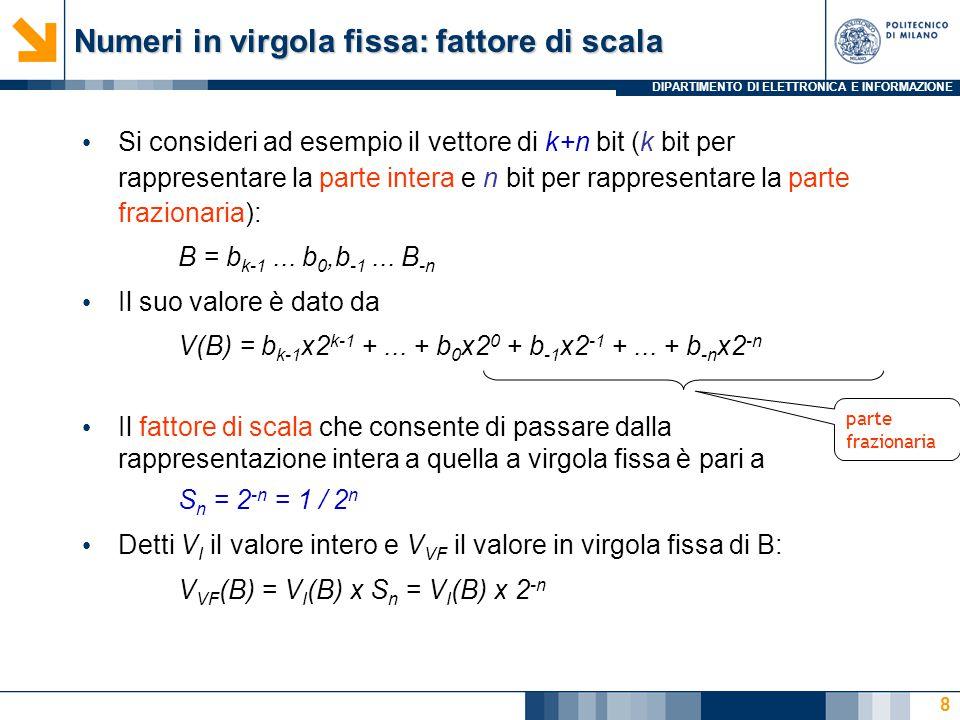 Numeri in virgola fissa: fattore di scala