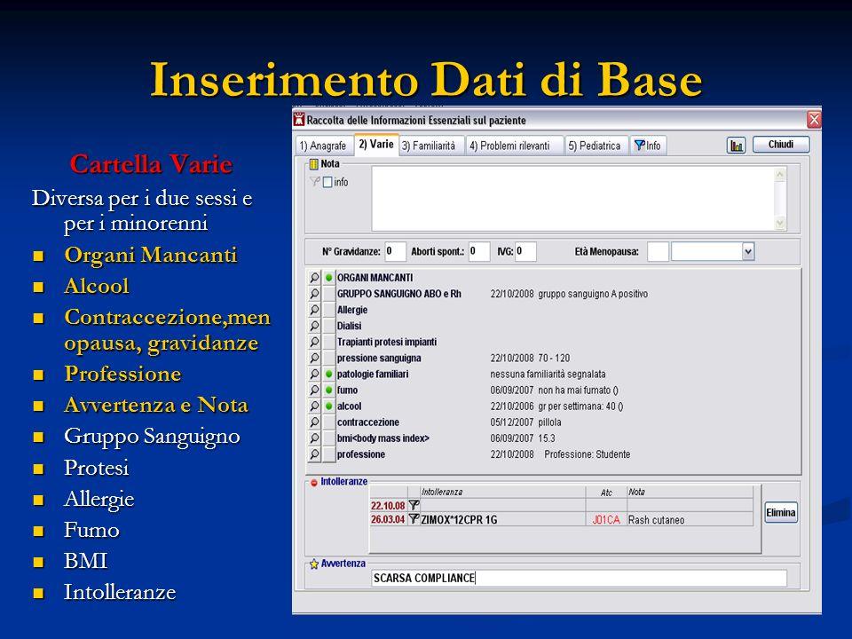 Inserimento Dati di Base