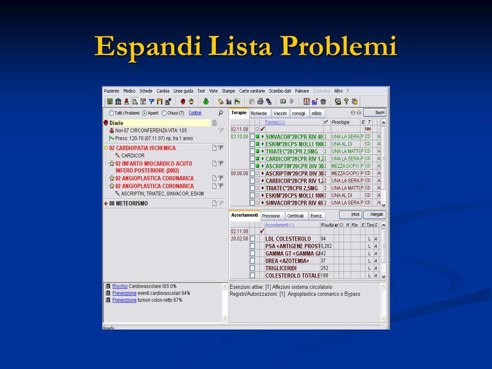Espandi Lista Problemi