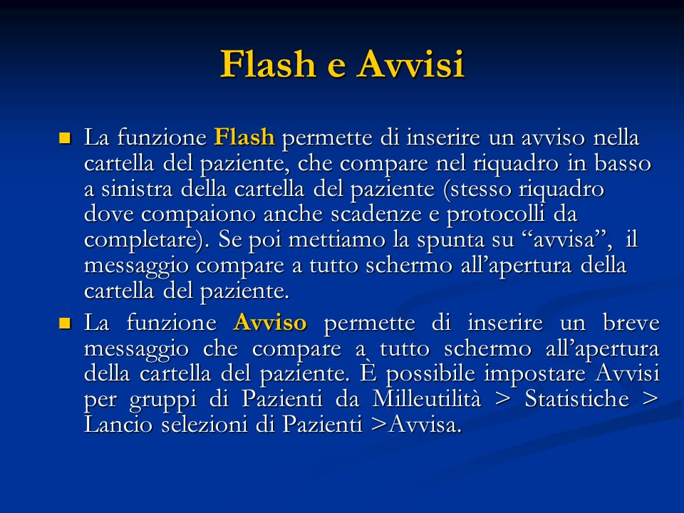 Flash e Avvisi