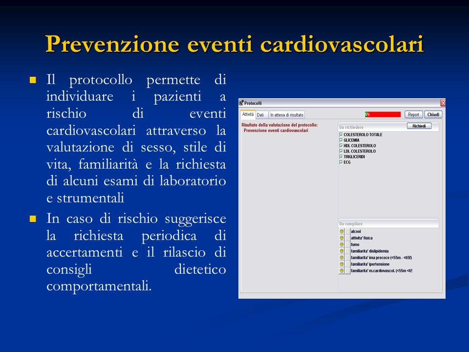 Prevenzione eventi cardiovascolari
