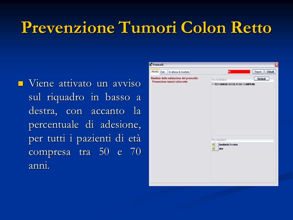 Prevenzione Tumori Colon Retto