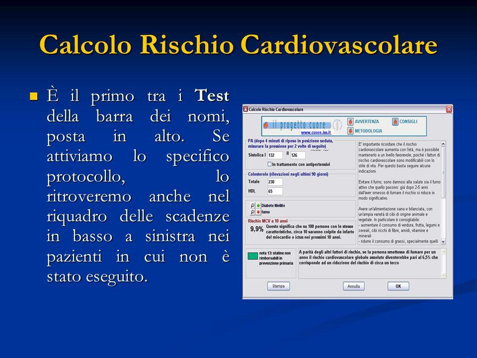 Calcolo Rischio Cardiovascolare