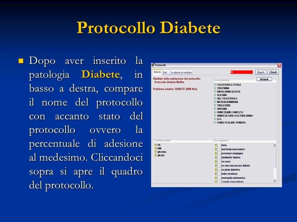 Protocollo Diabete