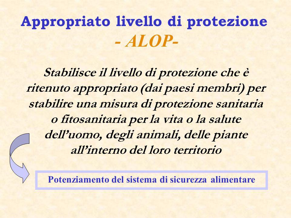 Appropriato livello di protezione - ALOP-