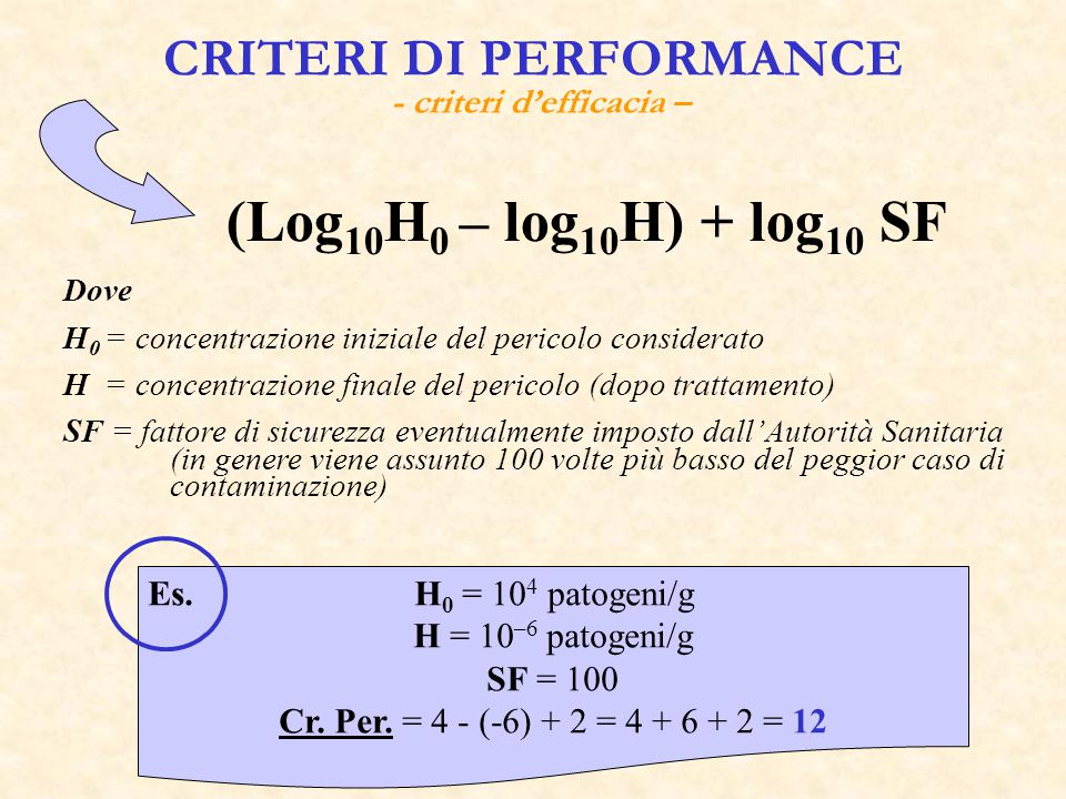 CRITERI DI PERFORMANCE - criteri d'efficacia –