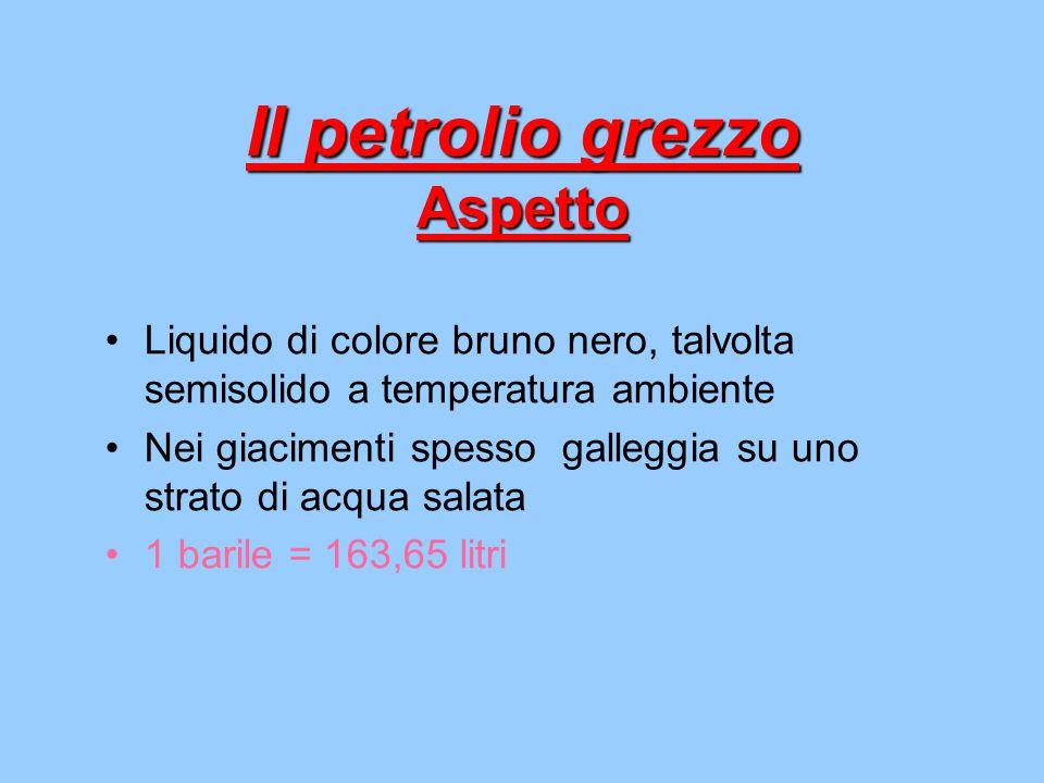 Il petrolio grezzo Aspetto