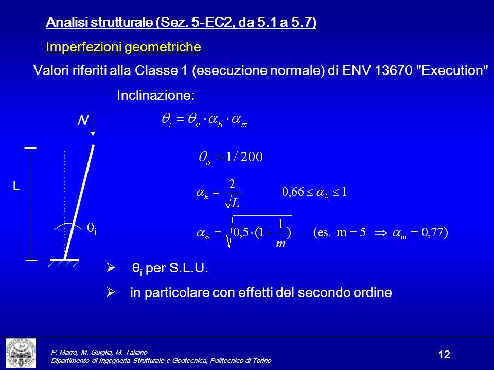 Analisi strutturale (Sez. 5-EC2, da 5.1 a 5.7)