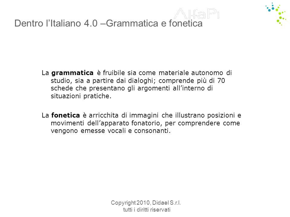 Dentro l'Italiano 4.0 –Grammatica e fonetica