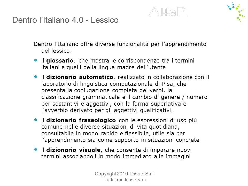Dentro l'Italiano 4.0 - Lessico