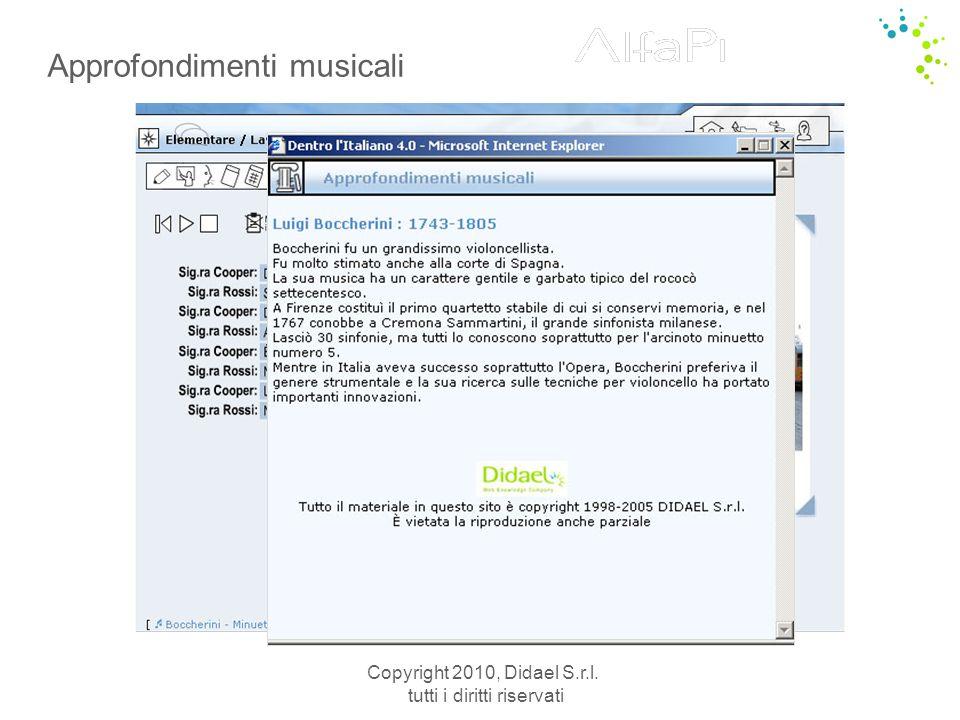 Approfondimenti musicali