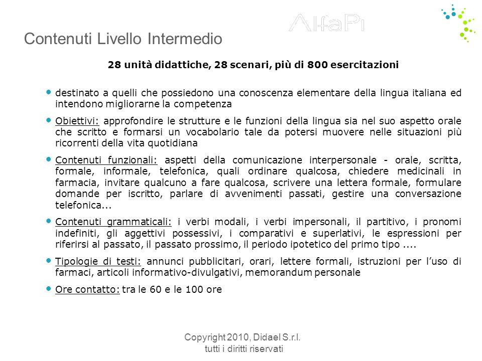 Contenuti Livello Intermedio