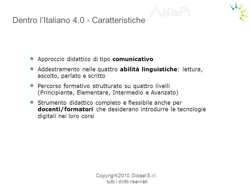 Dentro l'Italiano 4.0 - Caratteristiche