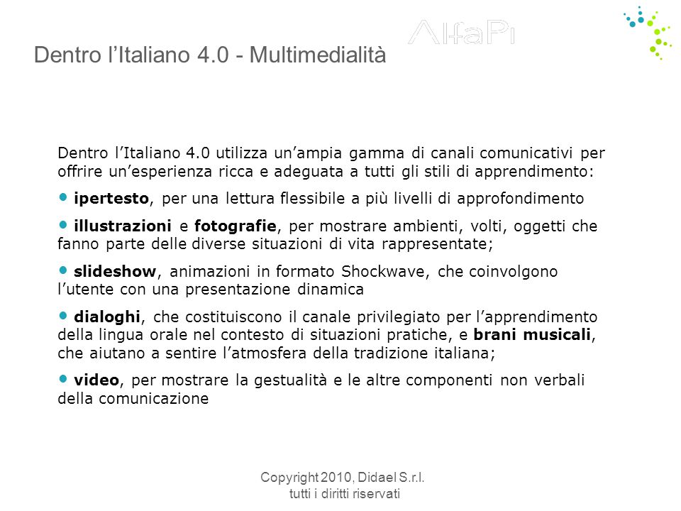 Dentro l'Italiano 4.0 - Multimedialità