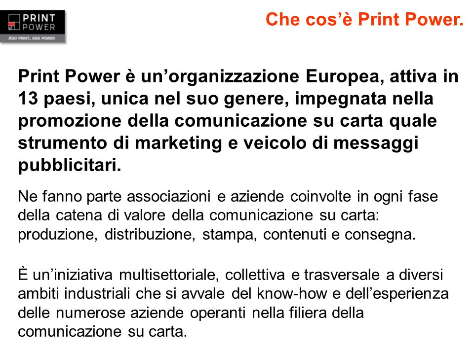 Che cos'è Print Power.