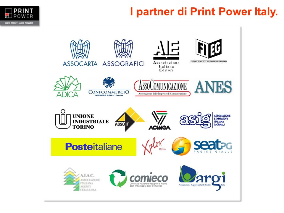 I partner di Print Power Italy.