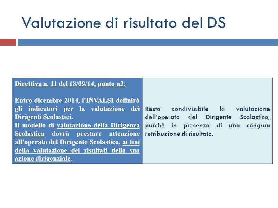 Valutazione di risultato del DS