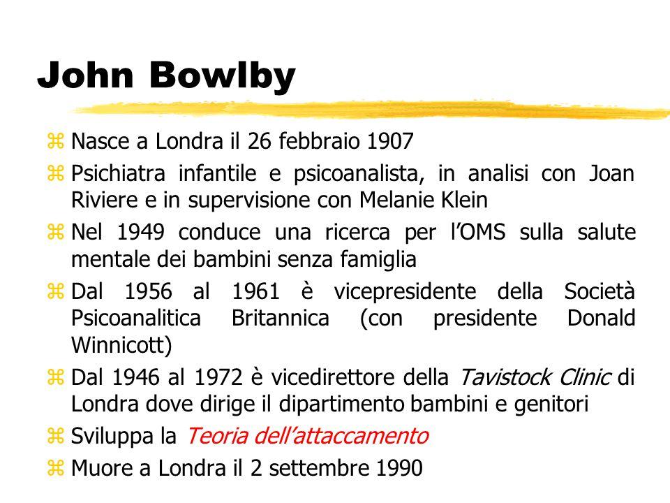 John Bowlby Nasce a Londra il 26 febbraio 1907