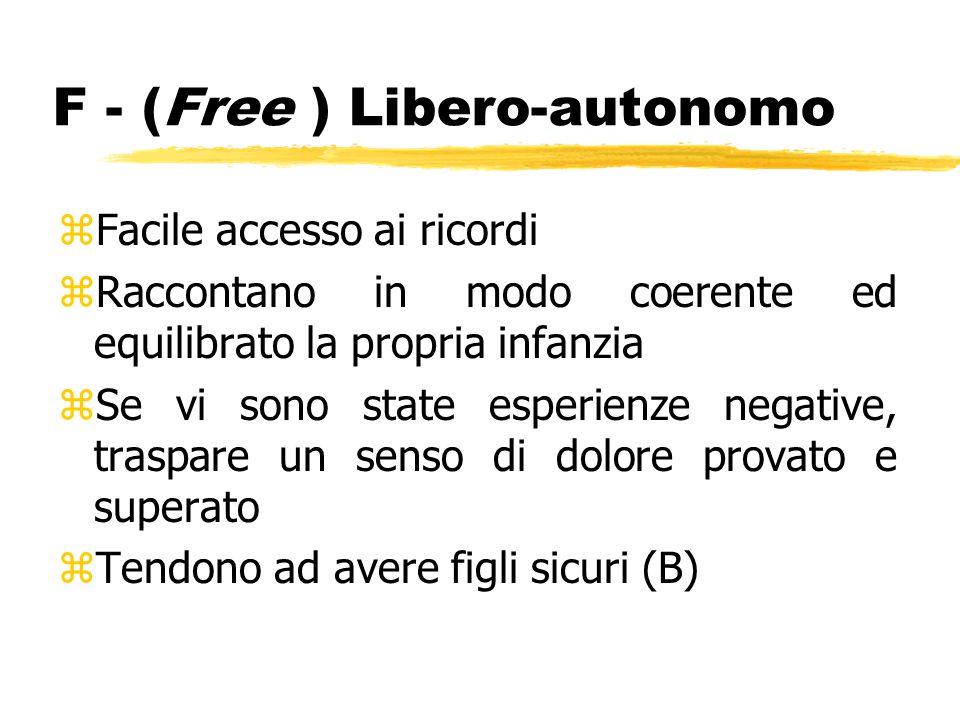 F - (Free ) Libero-autonomo