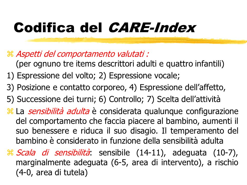 Codifica del CARE-Index