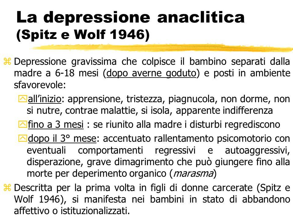 La depressione anaclitica (Spitz e Wolf 1946)