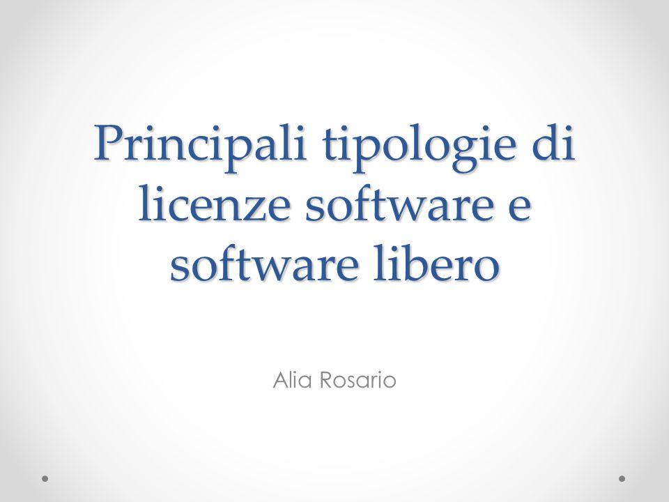 Principali tipologie di licenze software e software libero