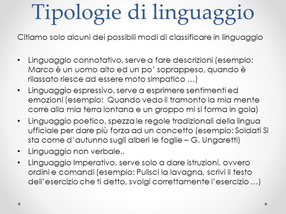 Tipologie di linguaggio